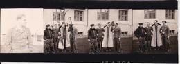 4 Fotos -  2. WK - Gruppe Deutsche Soldaten - Aufklärungsgruppe 11 Küstenstaffel Krim - 9,5*2,5cm (28896) - Orte