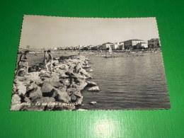 Cartolina Viserba - Le Scogliere E Spiaggia 1960 - Rimini