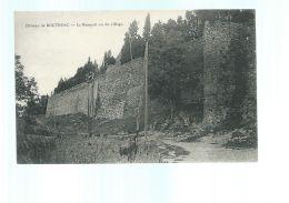 CPA (17) Château De Boutenac  -  Rempart Vu Du Village - France