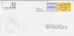 D082B - Entier / Stationery / PSE - PAP Réponse Merci - Institur Curie - Agrément 13P463 - Entiers Postaux