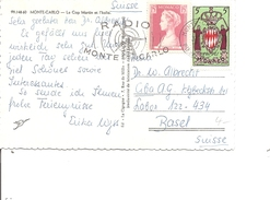 Monaco ( CP De 1957 De Monte-Carlo Vers La Suisse à Voir)