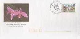 """D329 - Entier / Stationery / PSE - PAP """"Sèves De Guyane""""; Oblitération 1er Jour à St Laurent Du Maroni : Orchidée"""