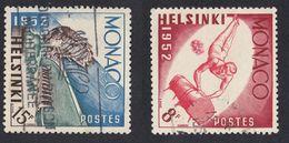 MONACO - 1953 -  Lotto Formato Da Due Valori Usati: Yvert 390 E 391. Olimpiadi Di Helsinki.