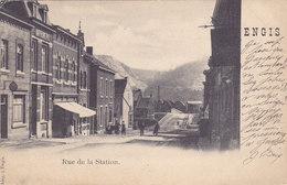 Engis - Rue De La Station (animée, Précurseur, 1901) - Engis
