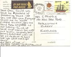 Singapour ( CP De 1981 De Singapore Vers La Grande-Bretagne à Voir)