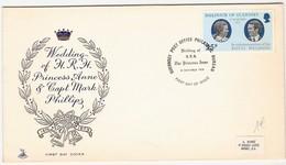 G575 - Guernsey - Lettre En FDC De 1973 - Mariage De La Princesse Anne - Guernesey