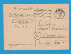 GANZSACHE P671.HANNOVER 23-12-1945. - Gemeinschaftsausgaben
