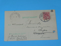 ENTIER POSTAL /Briefkaart  / CARTE POSTALE 1887 / DE S HERTOGENBOSCH  / BOIS LE DUC/ A SAUJON / COGNAC DOMAINE MORTIER / - Periode 1891-1948 (Wilhelmina)
