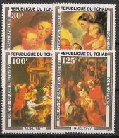 Tchad - 1977 - Poste Aérienne PA N°Yv. 212 à 215 - Rubens / Noel - Neuf Luxe ** / MNH / Postfrisch