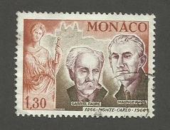 MONACO - N°YT 697 OBLITERE - COTE YT : 1.55€ - 1966