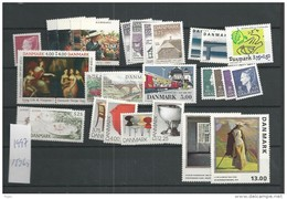 1997 MNH Denmark, Dänemark, Year Complete, Excluding Blocks, Postfris