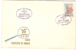 Angola & Ultramar, FDC XVI Anniversary Of The Angola Philatelic Club, Luanda 1974 (382)