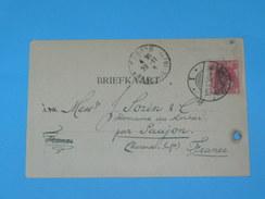 ENTIER POSTAL /Briefkaart  / CARTE POSTALE 1887 / DE GRONINGUEN  AGENTUURZAAK / A SAUJON / COGNAC DOMAINE MORTIER / - Periode 1891-1948 (Wilhelmina)