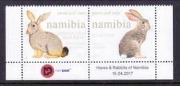 Namibia 'Hase U. Kaninchen' / Namibia 'Hare & Rabbit' **/MNH 2017