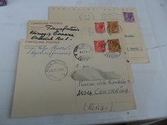 ITALIA  3 CARTOLINA POSTALE   1965-1968-1969 CIRCOLATE - 6. 1946-.. Republic