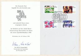 """Ball Des Sports '98 """"Eine Zauberhafte Frühlingsnacht"""". Erinnerungskarte Mit Zuschlagsmarken """"Für Den Sport"""" 1998."""