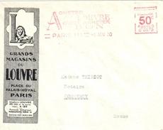 3907 PARIS 111 Lettre Entête Illustrée 50 C Magasins Du Louvre Ob 1° Mai 1930 EMA Havas B 0079
