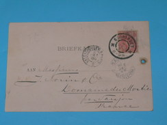 ENTIER POSTAL /Briefkaart  / CARTE POSTALE 1887 / DE GRONINGEN HANDELSAGENTEN / A SAUJON / COGNAC DOMAINE MORTIER / - Periode 1891-1948 (Wilhelmina)