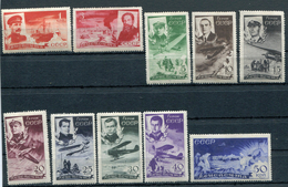 RUSSIA YR 1935,SC C58-67, MI 499-508,MNH **,FAMOUS CHELUSKIN RESCUE