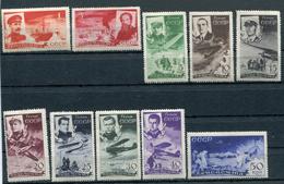 RUSSIA YR 1935,SC C58-67, MI 499-508,MNH **,FAMOUS CHELUSKIN RESCUE - Unused Stamps
