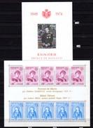 1974-75    Prince Rainier III Et Ste Dévote, BF 8 Et 10**, Cote 64,30 €,