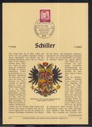 """DE 99 ) Herrlicher Privat ETB Erich Braun 1962 - Bedeutende Deutsche """"Friedrich Schiller"""""""