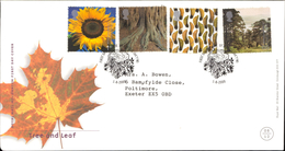 01 Aug 2000 Tree And Leaf Royal Mail FDC First Day Cover St Austell SHS - Autres - Europe