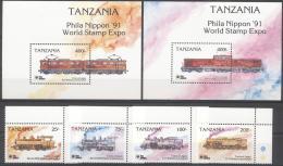 Tanzania 1991 - MNH - Philatelic Exhibition, Train / Railway