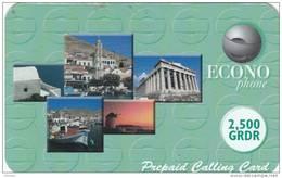 GREECE - Greek Islands, Acropolis, Econophone Prepaid Card 2500 GRD, Used