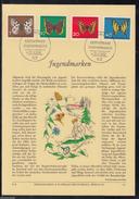 DE 99 ) Herrlicher Privat ETB Verlag Erich Braun 1962 Jugend Schmetterlinge