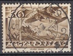 """Ungarn 36 F Flugpost 1936  - """"Szallas"""" Zentrisch 2 Kreis Gestempelt"""