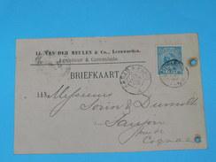 ENTIER POSTAL /Briefkaart G.30  / CARTE POSTALE 1887 / DE LEUWARDEN Yvd MEULEN&CIE/ A SAUJON  / COGNAC DOMAINE MORTIER / - Periode 1891-1948 (Wilhelmina)