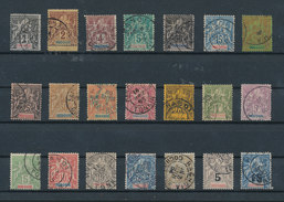 INDOCHINE 1893/1908 - Type Groupe Rèf Yvert N°3/23 Oblitérés/used Cote 283 Euros - Indochine (1889-1945)