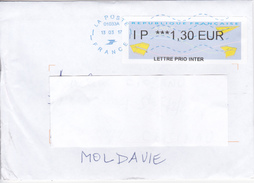 France To Moldova  , 2017, Used Cover - France