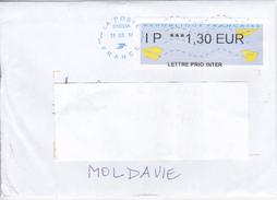 France To Moldova  , 2017, Used Cover - Frankrijk