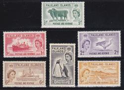 Falkland  Regina Elisabetta II 1955-57  Serie Cpl 6 Val  Yv 116-21  MNH ** - Falkland