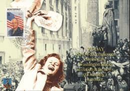 Montserrat 2005 - Cover: Maximum Card - Army, Eisenhower, History, World War II