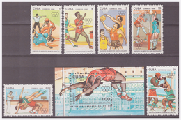 746 Cuba 1990 Olympics Barcelona 1992 Athletic Boxing Volleyball Baseball +S/S MNH - Zomer 1992: Barcelona