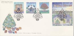 New Zealand 1992 - Cover: FDC - Christmas, Tree