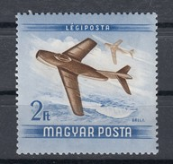 Ungarn 2 F AirMail Fliegertag 1954 - ** Ungebraucht