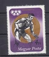 Ungarn 4 Ft AirMail Olympia-Gold Ringen 1973 - ** Ungebraucht