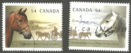 Sc. #2329 & 30 Canadian Horse Pair Used 2009 K304