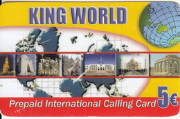 GREECE - Monuments, King World Prepaid Card 5 Euro, Used