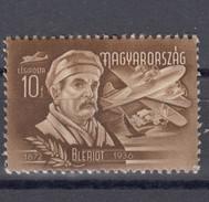Ungarn 10 F AirMail Bleriot 1948 - ** Ungebraucht