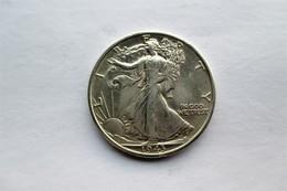 USA, 1/2 Dollar, 1943 D The Walking Liberty Half Dollar. - 1916-1947: Liberty Walking