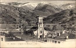 Cp Blida Algerien, L'Eglise Et La Montagne, Kirche Mit Gebirge