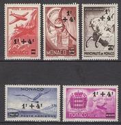 MONACO 1945 / 1946 SERIE N° 8 A 12 - 5 PA NEUFS* /C038