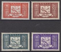 MONACO 1946 SERIE N° 15 / 16 / 17 / 18 -  NEUFS* /C040
