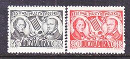 POLAND  526-7.     **    COMPOSER   CHOPIN - 1944-.... Republic