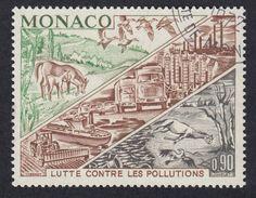 MONACO - 1972 -  Yvert 881 Usato. Lotta All'inquinamento, 90 Cent.